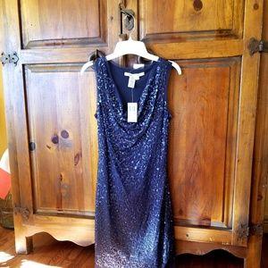 Max Studio Blue Sequence Dress